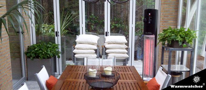 Warmwatcher calefactores de infrarrojos para terrazas - Estufas electricas para terrazas ...